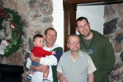 <h5>Brian's Dad</h5><p>Brian with 4 generations of Lauer men.</p>