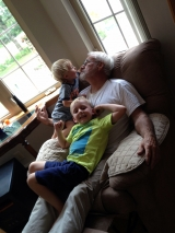 "<h5>Shauna's Dad</h5><p>""My favorite thing is seeing my kids with my dad!""</p>"
