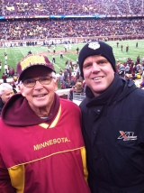 <h5>Greg's Dad</h5><p>Greg's father, Ron Anzelc, is a die-hard Gopher Football fan and is convinced every year that this is  the year they are returning to the Rose Bowl. </p>