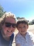 <h5>Hilary's park outing with her son</h5>