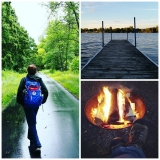 <p>Sara, always up for a good adventure, spent time with her son camping and hiking in Sauk Centre, along with the Boy Scouts.</p>