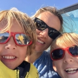 <p>Shauna's family enjoys boating on Pelican Lake in the summer.</p>