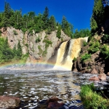 <p>MacKenzie loves to hike in the summer and spend as much time outside as possible. Over the 4th of July, she hiked over 25 miles along the North Shore and the Superior Hiking Trail. This photo is from Tettegouche State Park.</p>