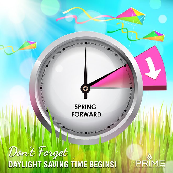 Daylight Saving Time Begins Graphic