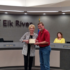 Elk River Volunteer of the Month, a legacy of volunteering, Prime Advertising & Design, April 2016