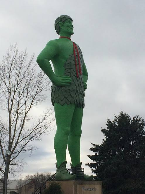 Jolly Green Giant - Blue Earth, MN - Memorable Monuments