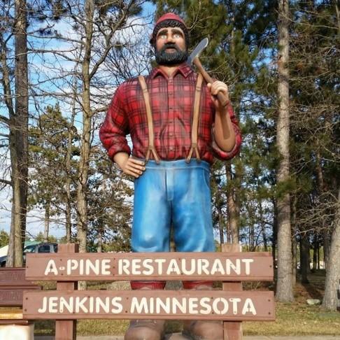 Paul Bunyan - A-Pine Restaurant - Memorable Monuments