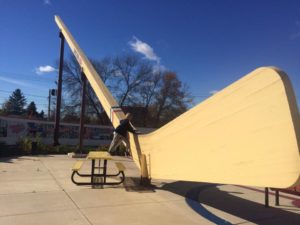 World's Largest Free-Standing Hockey Stick - Eveleth, MN - Memorable Monuments